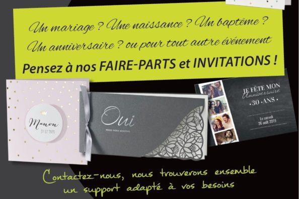 faire-parts et invitations